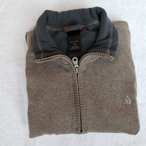The North Face 1/4 zip up sweater Pullover, sz L.